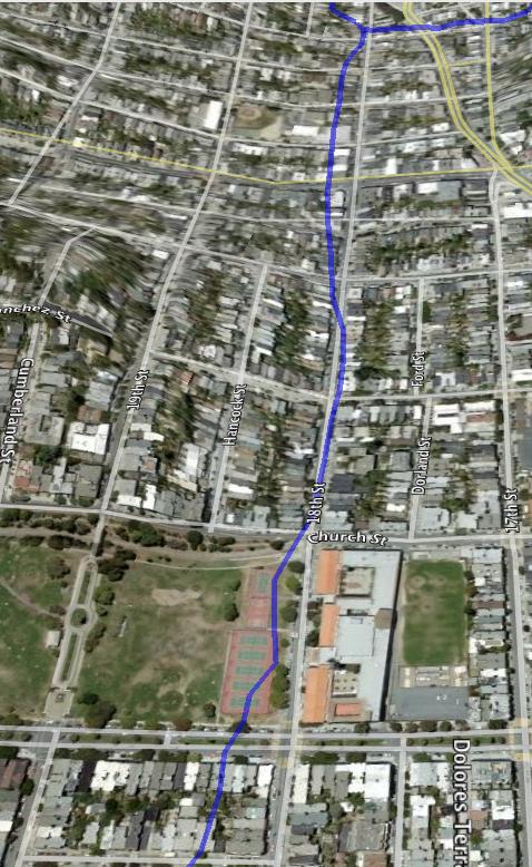 18th St Creek, Castro to Dolores Park