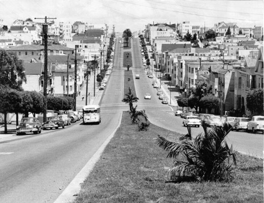 1958 View of Dolores St from 24th Street AAB-3486