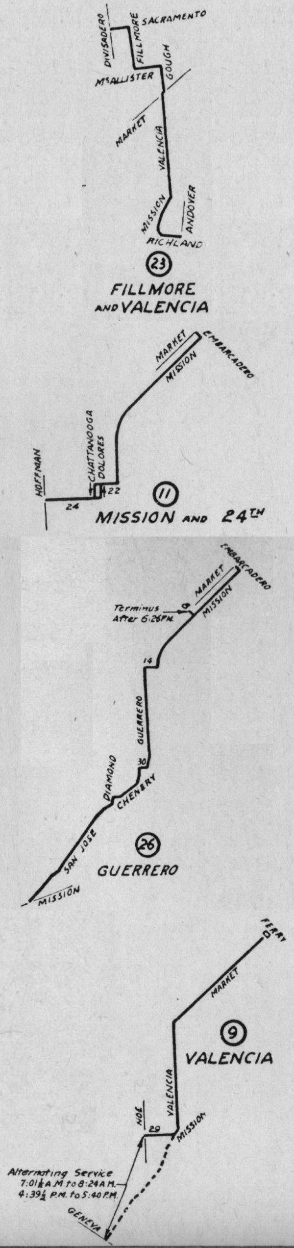 1929 streetcar lines 23 11 26 9