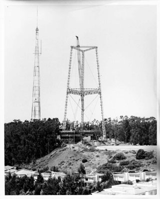 Sutro Tower construction 1973
