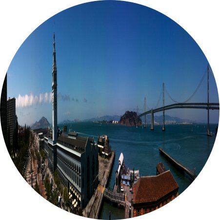 fake fisheye bay bridge