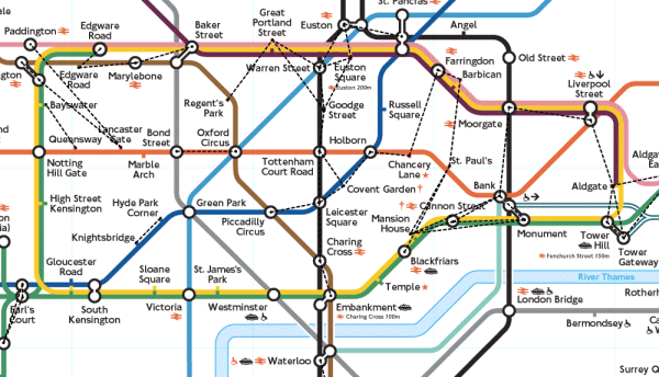 london tube walk map