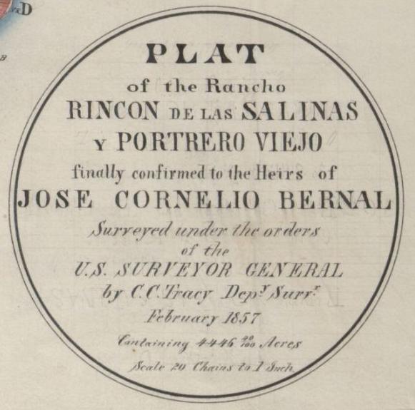 1857 Bernal plat seal