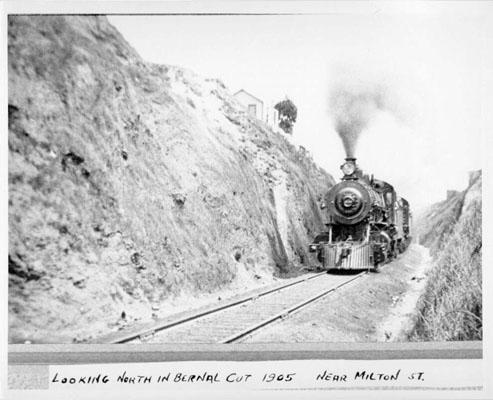 1905 Bernal Cut Milton St looking north AAB-8703