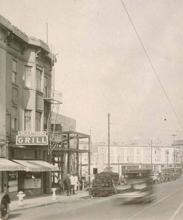 North on Mission at Precita, 1926