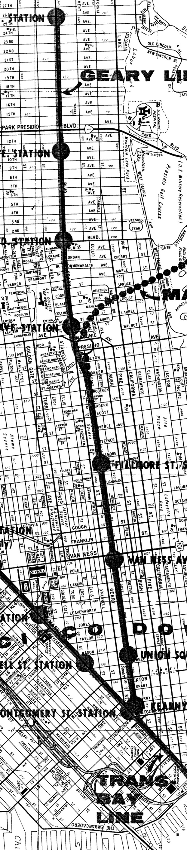 1961 BART Geary St crop