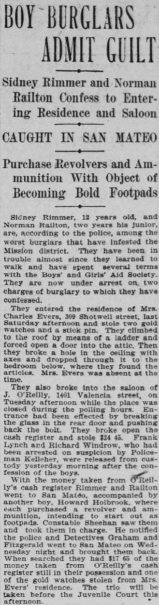 1904 sf call oreillys burglars