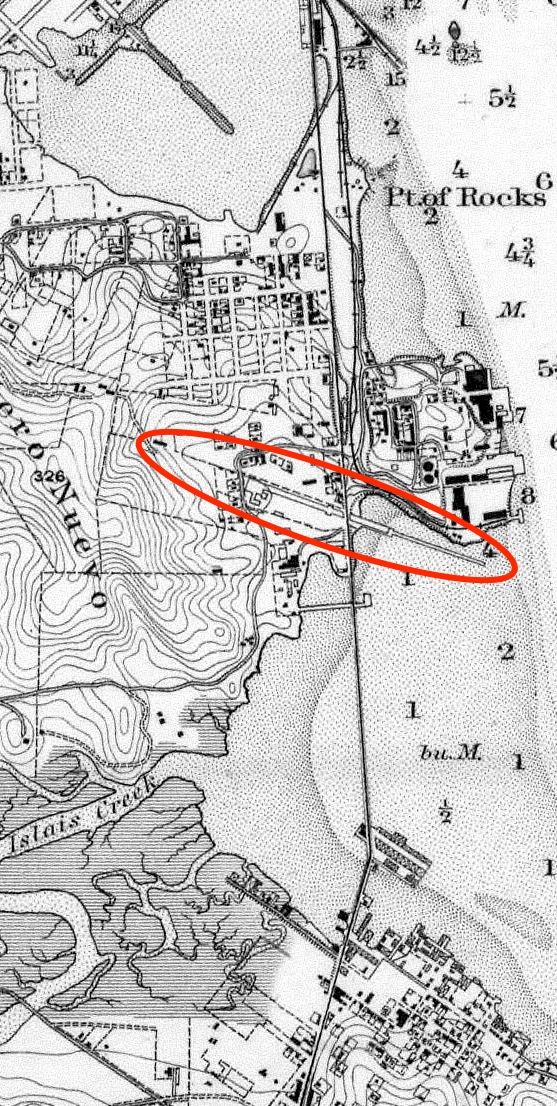 1884 Coast Survey Butchertown Hunters Point