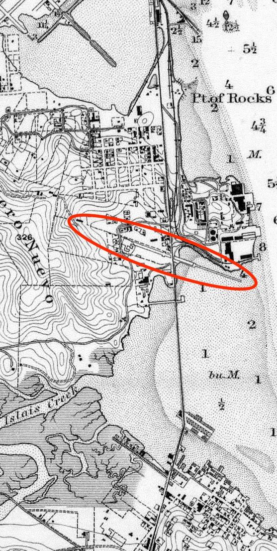 1884 Coast Survey Butchertown Hunters Point