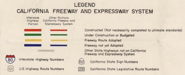 california highway interstate construction legend