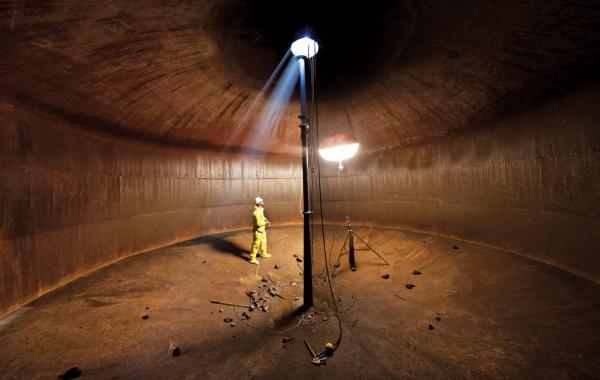 inside SFFD water cistern