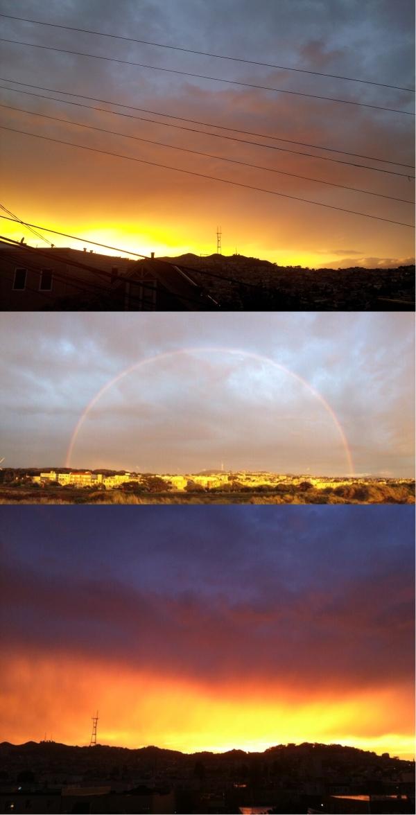 sutro sunset lighnting