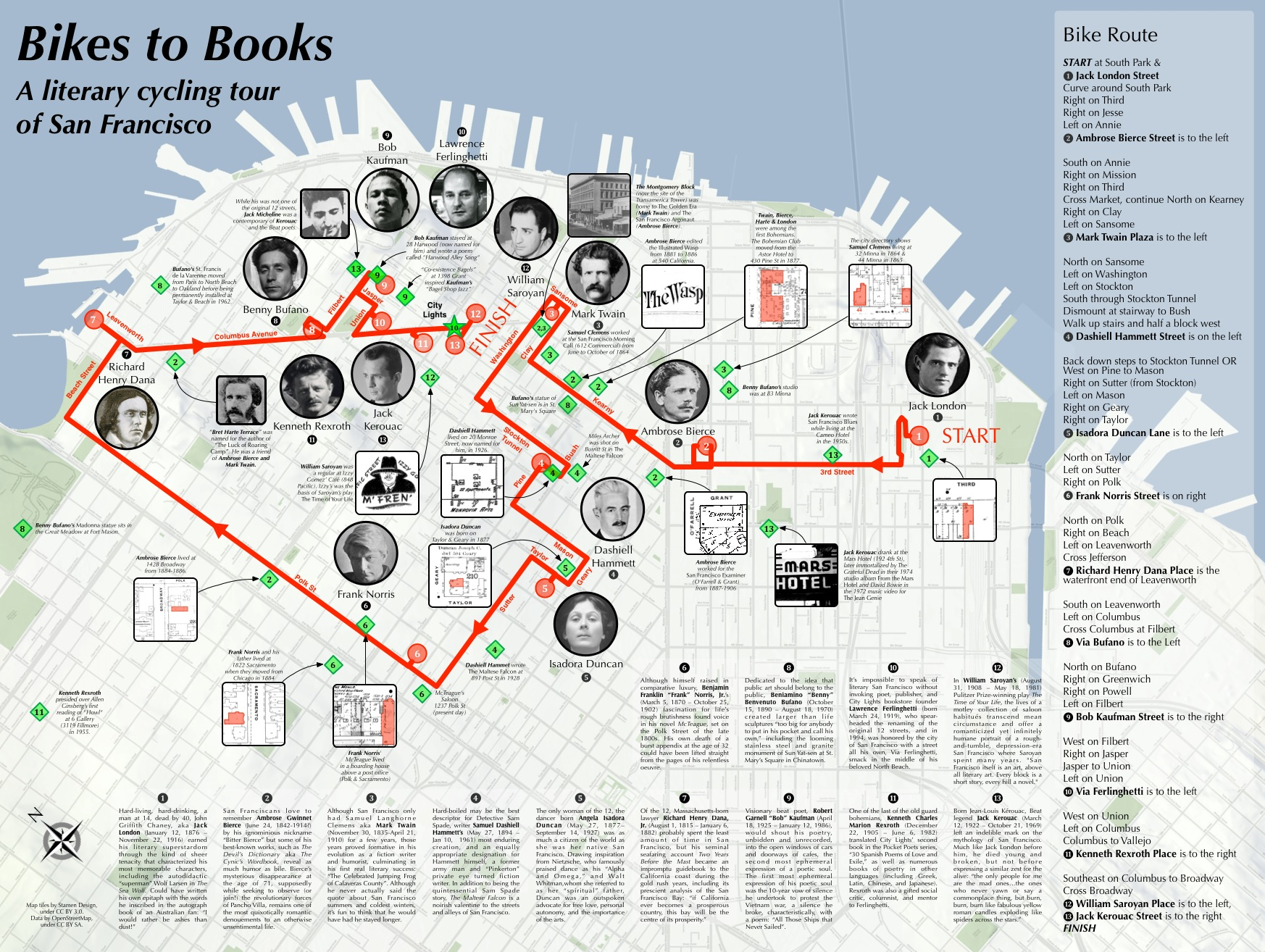 Bikes To Books Map Burrito Justice - San francisco bike map