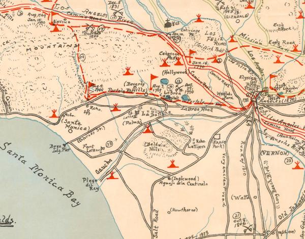 old LA map