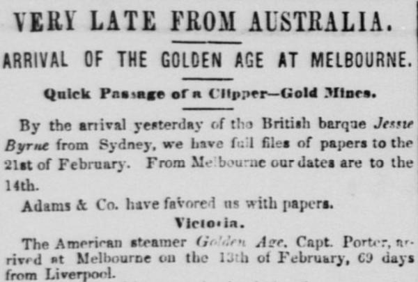 1854 australia golden age