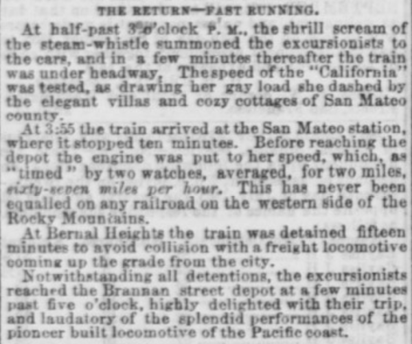 1865 daily alta sfsj rr speed record