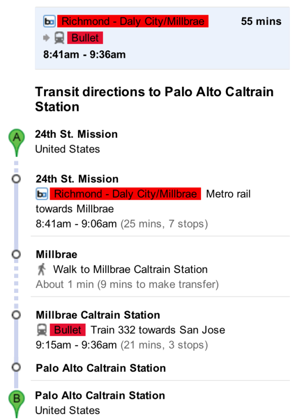 24th-Palo Alto BART Caltrain
