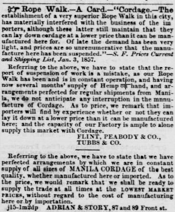 1857 tubbs cord walk ad