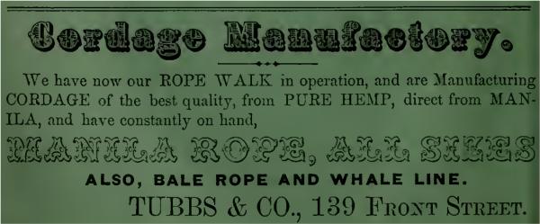 1858 tubbs cord walk ad green