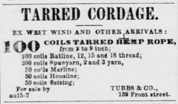 1858 tubbs cord walk ad