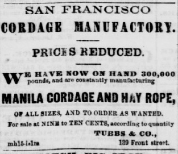 1860 tubbs cord walk ad