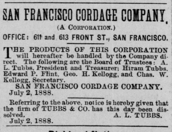 1888 tubbs cord walk dissolution