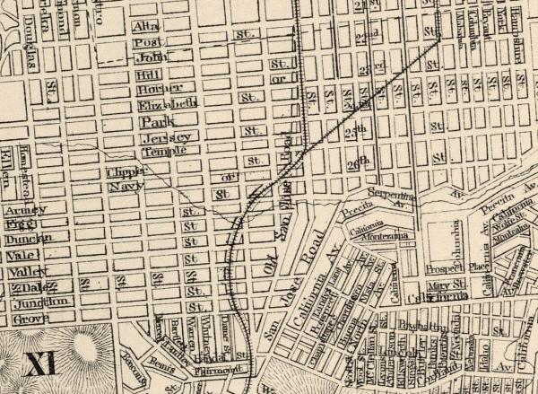 1884 SF Gray Map Bernal