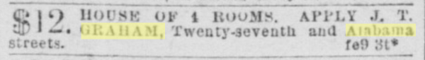 1892 SF Call Graham house rent