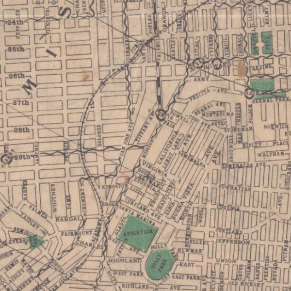 1905 sf street map streetcar lines