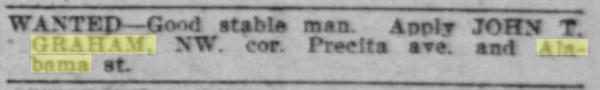 1906 SF Call John Graham