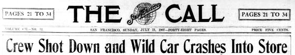1907 29th st runaway streetcar sf call