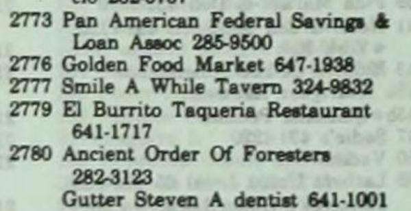 1980 el burrito 2779 Mission