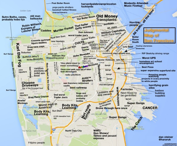 SF judgemental map