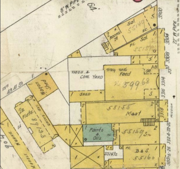 1905 Sanborn 3316 Misssion