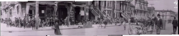 1906 SF quake Pathe intersection zoom