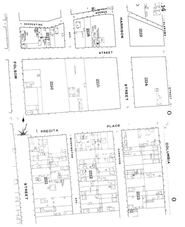 1886 Sanborn Precita and Gunnison north