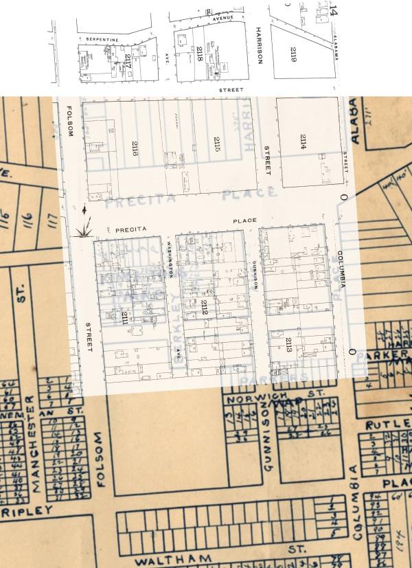 1886 Whitaker & Kelley + 1886 Sanborn